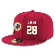Wholesale Cheap Washington Redskins #28 Darrell Green Snapback Cap NFL Player Red with White Number Stitched Hat