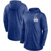 Wholesale Cheap Los Angeles Dodgers Nike Split Logo Performance Long Sleeve Hoodie Top Royal