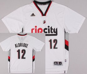 Wholesale Cheap Portland Trail Blazers #12 LaMarcus Aldridge Rip City Revolution 30 Swingman 2014 New White Short-Sleeved Jersey