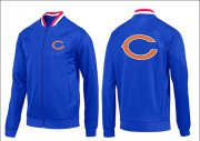 Wholesale NFL Chicago Bears Team Logo Jacket Blue_1