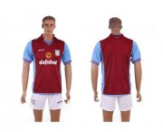 Wholesale Cheap Aston Villa Blank Red Home Soccer Club Jersey