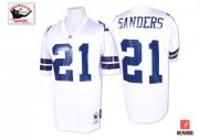 Wholesale Cheap Mitchell & Ness 1995 Cowboys #21 Deion Sanders White Stitched Throwback NFL Jersey
