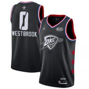 Wholesale Cheap Thunder #0 Russell Westbrook Black Basketball Jordan Swingman 2019 All-Star Game Jersey