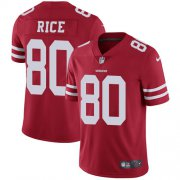 Wholesale Cheap Nike 49ers #80 Jerry Rice Red Team Color Men's Stitched NFL Vapor Untouchable Limited Jersey