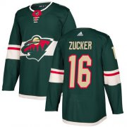 Wholesale Cheap Adidas Wild #16 Jason Zucker Green Home Authentic Stitched Youth NHL Jersey