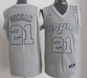 Wholesale Cheap San Antonio Spurs #21 Tim Duncan Revolution 30 Swingman Gray Big Color Jersey