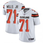 Wholesale Cheap Nike Browns #71 Jedrick Wills JR White Men's Stitched NFL Vapor Untouchable Limited Jersey