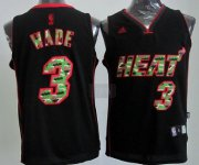 Wholesale Cheap Miami Heat #3 Dwyane Wade Black Camo Fashion Jersey