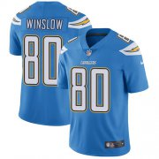 Wholesale Cheap Nike Chargers #80 Kellen Winslow Electric Blue Alternate Youth Stitched NFL Vapor Untouchable Limited Jersey