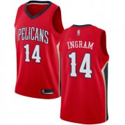 Wholesale Cheap Pelicans #14 Brandon Ingram Red Basketball Swingman Statement Edition Jersey