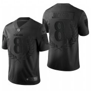 Wholesale Cheap Nike Baltimore Ravens #8 Lamar Jackson Black Commemorative Edition Vapor Untouchable Limited Jersey