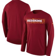 Wholesale Cheap Washington Redskins Nike Sideline Seismic Legend Long Sleeve T-Shirt Burgundy
