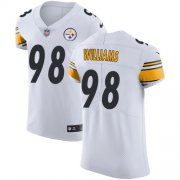 Wholesale Cheap Nike Steelers #98 Vince Williams White Men's Stitched NFL Vapor Untouchable Elite Jersey