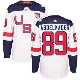 Wholesale Cheap Team USA #89 Justin Abdelkader White 2016 World Cup Stitched NHL Jersey