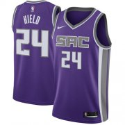 Wholesale Cheap Women's Sacramento Kings #24 Buddy Hield Purple Basketball Swingman Icon Edition Jersey