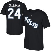 Wholesale Cheap Tampa Bay Lightning #24 Ryan Callahan Reebok 2014 Third Name & Number T-Shirt Black