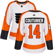 Wholesale Cheap Adidas Flyers #14 Sean Couturier White Road Authentic Women's Stitched NHL Jersey