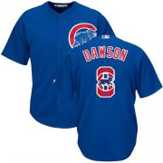 Wholesale Cheap Cubs #8 Andre Dawson Blue Team Logo Fashion Stitched MLB Jersey