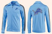 Wholesale Cheap NFL Detroit Lions Team Logo Jacket Light Blue_2