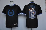 Wholesale Cheap Nike Colts #12 Andrew Luck Black Men's NFL Game All Star Fashion Jersey