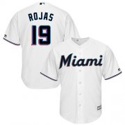 Wholesale Cheap Marlins #19 Miguel Rojas White Cool Base Stitched Youth MLB Jersey