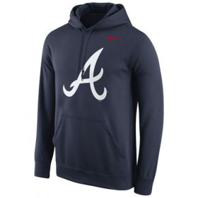 Wholesale Cheap Atlanta Braves Nike Logo Performance Navy Pullover MLB Hoodie