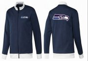 Wholesale Cheap NFL Seattle Seahawks Team Logo Jacket Dark Blue_1