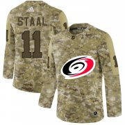 Wholesale Cheap Adidas Hurricanes #11 Jordan Staal Camo Authentic Stitched NHL Jersey