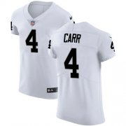 Wholesale Cheap Nike Raiders #4 Derek Carr White Men's Stitched NFL Vapor Untouchable Elite Jersey