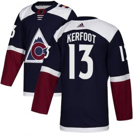 Wholesale Cheap Adidas Avalanche #13 Alexander Kerfoot Navy Alternate Authentic Stitched NHL Jersey