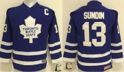 Wholesale Cheap Maple Leafs #13 Mats Sundin Blue CCM Stitched Youth NHL Jersey