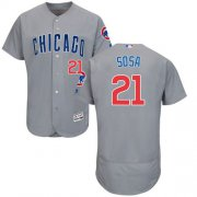 Wholesale Cubs #21 Sammy Sosa Grey Flexbase Authentic Collection Road Stitched Baseball Jersey