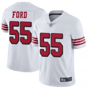 Wholesale Cheap Nike 49ers #55 Dee Ford White Rush Men's Stitched NFL Vapor Untouchable Limited Jersey