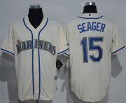 Wholesale Cheap Mariners #15 Kyle Seager Cream New Cool Base Stitched MLB Jersey