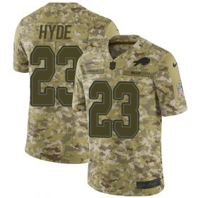 Wholesale Cheap Nike Bills #23 Micah Hyde Camo Youth Stitched NFL Limited 2018 Salute to Service Jersey