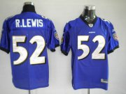 Wholesale Cheap Ravens #52 Ray Lewis Purple Stitched NFL Jersey