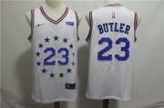 Wholesale Cheap Men's Philadelphia 76ers 23 Jimmy Butler Nike White 2018-19 Swingman Earned Edition Jersey