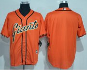 Wholesale Cheap Giants Blank Orange New Cool Base Alternate Stitched MLB Jersey