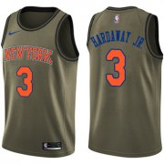 Wholesale Cheap Nike New York Knicks #3 Tim Hardaway Jr. Green Salute to Service NBA Swingman Jersey