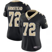 Wholesale Cheap Nike Saints #72 Terron Armstead Black Team Color Women's Stitched NFL Vapor Untouchable Limited Jersey