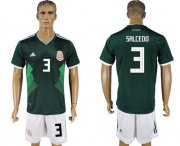 Wholesale Cheap Mexico #3 Salcedo Green Home Soccer Country Jersey