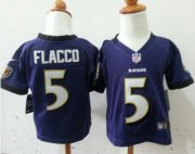 Wholesale Cheap Toddler Nike Ravens #5 Joe Flacco Purple Team Color Stitched NFL Elite Jersey