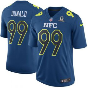 Wholesale Cheap Nike Rams #99 Aaron Donald Navy Men\'s Stitched NFL Game NFC 2017 Pro Bowl Jersey