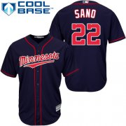 Wholesale Cheap Twins #22 Miguel Sano Navy blue Cool Base Stitched Youth MLB Jersey