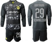 Wholesale Cheap Dortmund #29 Schmelzer Away Long Sleeves Soccer Club Jersey