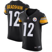 Wholesale Cheap Nike Steelers #12 Terry Bradshaw Black Team Color Men's Stitched NFL Vapor Untouchable Elite Jersey