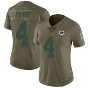 Wholesale Cheap Nike Packers #4 Brett Favre Olive Women's Stitched NFL Limited 2017 Salute to Service Jersey