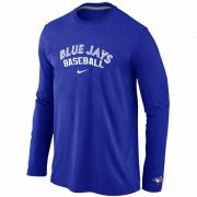 Wholesale Cheap Toronto Blue Jays Long Sleeve MLB T-Shirt Blue