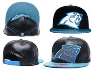 Wholesale Cheap NFL Carolina Panthers Team Logo Black Reflective Adjustable Hat A102
