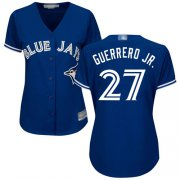 Wholesale Cheap Blue Jays #27 Vladimir Guerrero Jr. Blue Alternate Women's Stitched MLB Jersey
